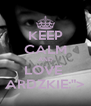 """KEEP CALM AND LOVE  ARDZKIE:""""> - Personalised Poster A4 size"""