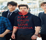 KEEP CALM AND LOVE ARIADNA - Personalised Poster A4 size
