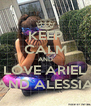 KEEP CALM AND LOVE ARIEL AND ALESSIA - Personalised Poster A4 size