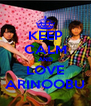 KEEP CALM AND LOVE ARINOOBU - Personalised Poster A4 size