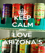 KEEP CALM AND LOVE ARIZONA'S - Personalised Poster A4 size