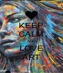 KEEP CALM AND LOVE ART - Personalised Poster A4 size
