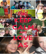 KEEP CALM AND LOVE AS - Personalised Poster A4 size