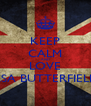 KEEP CALM AND LOVE ASA BUTTERFIELD - Personalised Poster A4 size