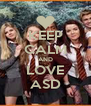 KEEP CALM AND LOVE ASD - Personalised Poster A4 size