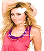 KEEP CALM AND LOVE ASHLEY TISDALE - Personalised Poster A4 size