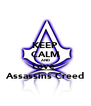 KEEP CALM AND Love  Assassins Creed - Personalised Poster A4 size