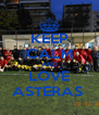KEEP CALM AND LOVE ASTERAS  - Personalised Poster A4 size