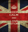 KEEP CALM AND LOVE ASTONS - Personalised Poster A4 size