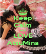 Keep Calm and LOVE AtsuMina - Personalised Poster A4 size