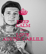 KEEP CALM AND LOVE AUSTIN CARLILE - Personalised Poster A4 size