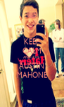 KEEP CALM AND LOVE AUSTIN MAHONE - Personalised Poster A4 size