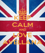 KEEP CALM AND LOVE AVELLANA - Personalised Poster A4 size