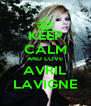 KEEP CALM AND LOVE AVRIL LAVIGNE - Personalised Poster A4 size