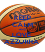 KEEP CALM AND LOVE  AZZURRA  - Personalised Poster A4 size