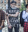 KEEP CALM AND LOVE BĂIEŢII - Personalised Poster A4 size