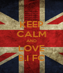 KEEP CALM AND LOVE B.I FC - Personalised Poster A4 size