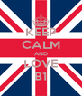 KEEP CALM AND LOVE B1 - Personalised Poster A4 size
