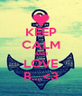 KEEP CALM AND LOVE B....<3 - Personalised Poster A4 size