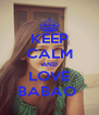 KEEP CALM AND LOVE BABAO  - Personalised Poster A4 size
