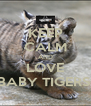 KEEP CALM AND LOVE BABY TIGERS  - Personalised Poster A4 size