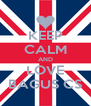 KEEP CALM AND LOVE BAGUS CS - Personalised Poster A4 size