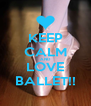 KEEP CALM AND LOVE BALLET!! - Personalised Poster A4 size