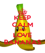 KEEP CALM AND LOVE BANANAS - Personalised Poster A4 size