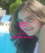 KEEP CALM AND LOVE BARBIE DIALI - Personalised Poster A4 size