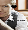 KEEP CALM AND LOVE BARNEY STINSON - Personalised Poster A4 size