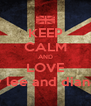 KEEP CALM AND LOVE barry lee and diane lee - Personalised Poster A4 size