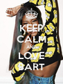 KEEP CALM AND LOVE BART - Personalised Poster A4 size