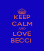 KEEP CALM AND LOVE BECCI  - Personalised Poster A4 size