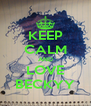KEEP CALM AND LOVE BECKYY - Personalised Poster A4 size