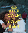 KEEP CALM AND LOVE BEER - Personalised Poster A4 size