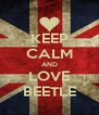 KEEP CALM AND LOVE BEETLE - Personalised Poster A4 size