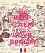 KEEP CALM AND LOVE BEGÜM - Personalised Poster A4 size