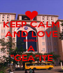 "KEEP CALM AND LOVE BEING  A ""GEA""ITE - Personalised Poster A4 size"