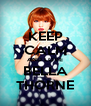 KEEP CALM AND LOVE BELLA THORNE - Personalised Poster A4 size