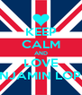 KEEP CALM AND LOVE BENJAMIN LOPEZ - Personalised Poster A4 size