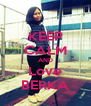 KEEP CALM AND Love BERKA - Personalised Poster A4 size