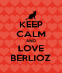 KEEP CALM AND LOVE BERLIOZ - Personalised Poster A4 size