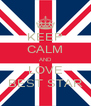 KEEP CALM AND LOVE BEST STAR - Personalised Poster A4 size