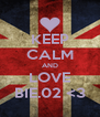 KEEP CALM AND LOVE BIE.02 <3 - Personalised Poster A4 size