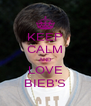 KEEP CALM AND LOVE BIEB'S - Personalised Poster A4 size