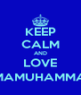 KEEP CALM AND LOVE @BIMAMUHAMMAD42 - Personalised Poster A4 size