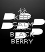 KEEP CALM AND LOVE BLACK BERRY - Personalised Poster A4 size