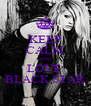 KEEP CALM AND LOVE  BLACK STAR - Personalised Poster A4 size