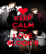 KEEP CALM AND LOVE BLOCK B - Personalised Poster A4 size