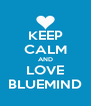 KEEP CALM AND LOVE BLUEMIND - Personalised Poster A4 size